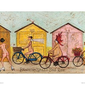 Sam Toft Brighton Naked Bike Ride Kunstdruck 40 x 30 cm