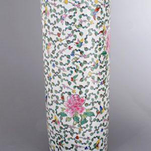 Schirmständer/Regenschirmständer / Schirmhalter/Ständer 56cm aus Keramik in weiss