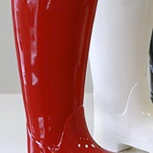 Schirmständer Stiefel aus roter Keramik 45 cm hoch