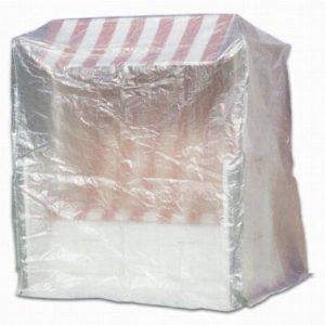 Fachhandel Plus Schutzhülle Hülle Abdeckung für Strandkorb Möbelschutzhüllen transparent