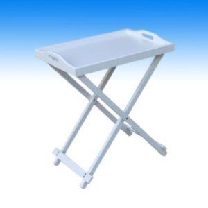 Multistore 2002 2 X Serviertisch Beistelltisch Klapptisch Tabletttisch Tablett Tisch Holz weiß 60x36x55cm