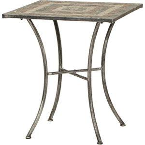 Siena Garden Tisch Felina, 64x64x71cm, Gestell: Stahl, pulverbeschichtet in silber-schwarz, Fläche: Mosaik,Tischplatte…