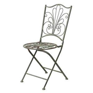 Siena Garden Metallstuhl Vintage, Gartenstuhl, 40x40x88cm, antikgrün, 365183
