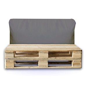 Sitzbag Palettenkissen Rückenkissen 120x40x15cm Farbe Anthrazit – In & Outdoor – Palettenpolster – Paletten Rattanmöbel Polster
