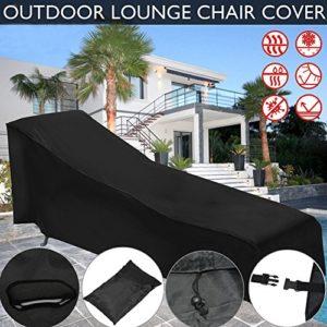 Oshide Sonnenliege Abdeckung Schutzhülle für Sonnenliege Möbel Staubschutz Wasserdichte Outdoor Garten Terrasse Möbel Sunbed Cover