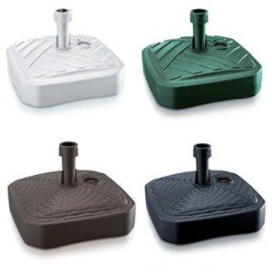 Sonnenschirmständer Schirmständer Ständer Schirmhalter Quadratisch Rattanoptik oder Board Design 12 L 4 Farben wählbar von rg-vertrieb (Board Quadrat Grün)