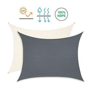 Minuma® Sonnensegel | Sonnenschutz | Wetterschutzsegel | Windschutz | Sichtschutz – atmungsaktiv mit UV-Schutz | Dreieck 3 x 3 x 3 m, anthrazit