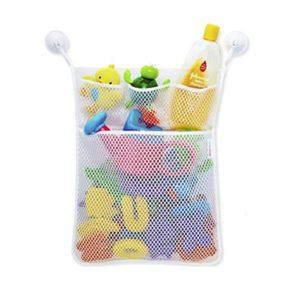 Starsglowing Badewanne Spielzeug Netztasche Bad Spielzeug Organizer Netz Aufbewahrungstasche mit 2 Saugnäpfe (ohne Spielzeug)