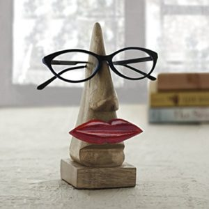 """Store Indya, handgefertigte """"Nase Shaped"""" Brillenhalter Palisander Brillen Sonnenbrillen Halter Stand fur zu Hause und Buro Dekor"""