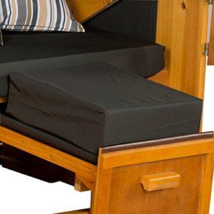Strandkorb Auflagekissen-Set für Fussablage, anthrazit, 2er Set, LILIMO ®