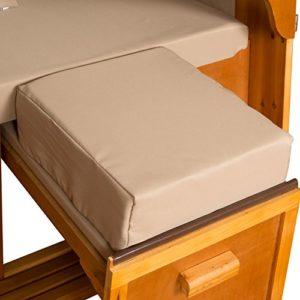 Strandkorb Auflagekissen-Set für Fussablage, sandbeige, 2er Set, LILIMO ®
