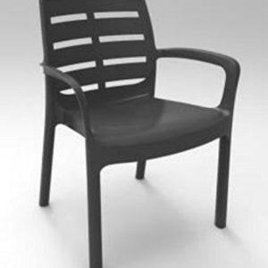 Desantis 'Stuhl Harz mit Armlehnen Borneo weiß D