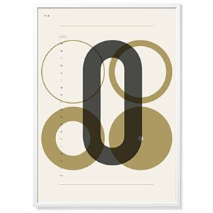 TYPE HYPE DIN O Poster, Andere, Natur/Beige/Anthrazit, 70 x 50 x 0,2 cm