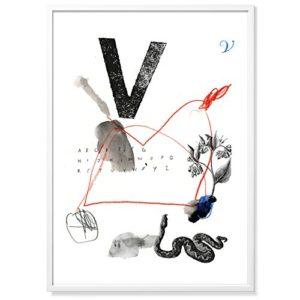 TYPE HYPE Mitte V Poster Weiß/bunt 70 x 50 x 0,2 cm