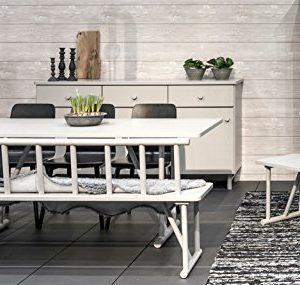 Tenzo 4030-912 Grain Designer Sitzbank Holz, grau gebeizt, 42 x 84 x 77 cm