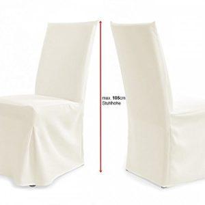 TexDeko Universal Stuhlhussen – Modell Paris – Creme