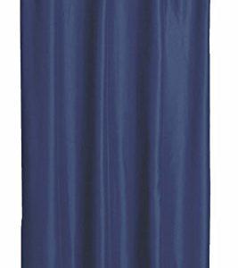 Thermo Übergardine ALEK mit Uband Kräuselband Farbe & Größe wählbar – Eckig 140 x 245 cm Blau – Vorhang Gardine