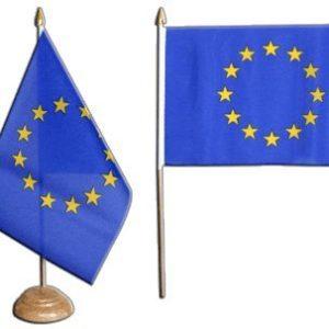 Tischflagge Tischfahne Europäische Union EU – 15 x 22 cm