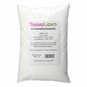 TrendLight 890171-2 Kompositionswachs, Wachsmischung Paraffin Stearin, 80/20 Gemisch, 2 kg