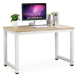 Schreibtisch Bürotisch, tribesigns Tisch Informatik Waschtisch Desktop-für Computer Arbeit Untersuchung Noir d'Angle