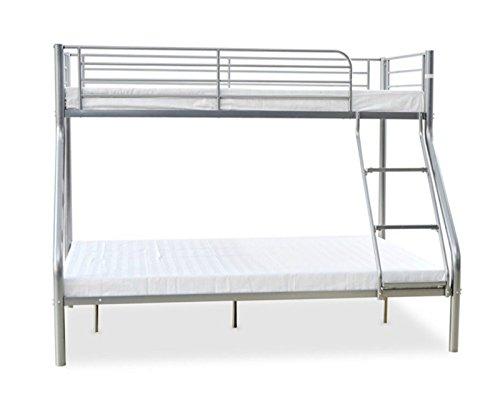 Triple etagenbett metall rahmen kinder kid erwachsene for Doppelbett platzsparend