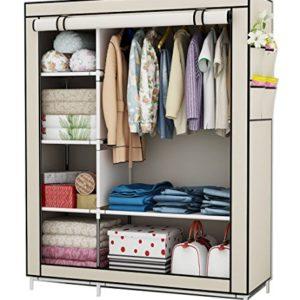 UDEAR Kleiderschrank Stoff Storage Wardrobe Bedroom Furniture Kleiderschr?nke mit a Kleiderstange