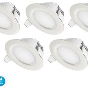 Ultra Flach LED Einbaustrahler IP44 | auch für das Bad geeignet | Warmweiss Kaltweiss | 4W 230V Einbauspots Badleuchten…