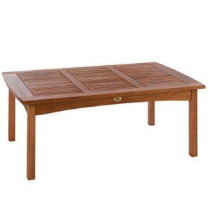 Ultranatura Loungetisch, Edles und Hochwertiges Eukalyptusholz, 110 cm x 70 cm x 47 cm