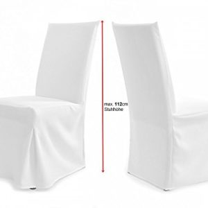 Universal Stuhlhussen für extra hohe Lehne bis 112cm – PARIS PLUS