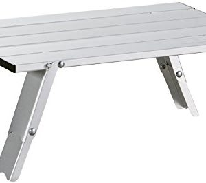 Uquip Faltbarer Aluminium Tisch Handy – Verstellbar in 2 Höhen (11/16cm)