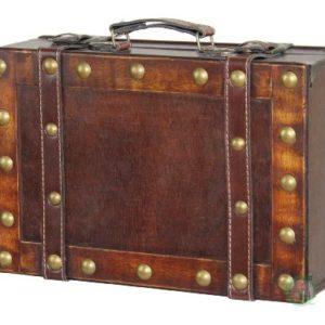 Vintiquewise, Koffer im Antik-Stil, klein, Braun