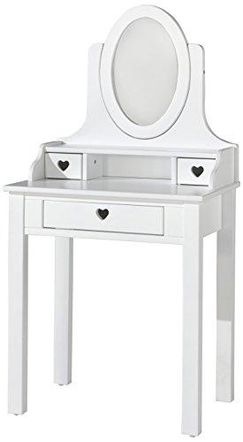 Vipack Spiegel Amori Schminktisch, Holzwerkstoff, weiß, 40 x 70 x 136 cm