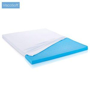 ViscoSoft – Matratzenauflage aus Memory-Schaumstoff und erfrischendes Gel (80 x 200 x 5 cm)