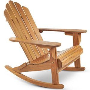VonHaus Adirondack Stuhl–Outdoor-/Gartenmöbel aus Akazien-Hartholz mit Ölfinish