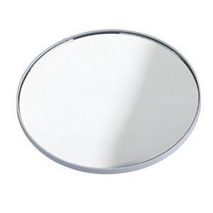 WENKO Kosmetikspiegel, 300 % Vergrößerung, Kunststoff, 12 x 0.5 cm, Chrom