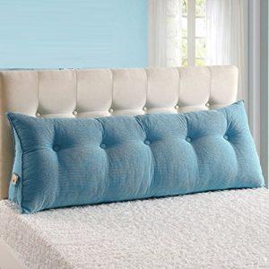 WENZHE Kopfteil Kissen Bett Rückenkissen Rückenlehne Für Bett Bettkeile Keilkissen Palettenpolster Tuchkunst Dreieckig Waschbar, 10 Farben