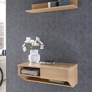 WILMES Schreibtisch, Wandschreibtisch, Laptoptisch, Ablage, Tisch, Wandboard, Dielenablage, Holzwerkstoff