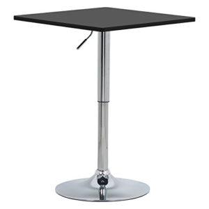 WOLTU Bartisch Bistrotisch, Partytisch, Design Tisch mit Trompetenfuß, drehbare Tischplatte aus Robustem MDF, höhenverstellbar, Dekor #893