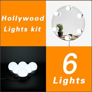 WanEway Hollywood Style LED Vanity Mirror Lights Kit
