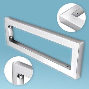 Wandkonsole EWH | rechteckig & rechter Winkel | edel verchromt