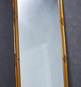 Wholesaler GmbH Wandspiegel Spiegel Gold ca. 180 x 80 cm Antik-Stil barock m. Facettenschliff XL Ankleidespiegel Ganzkörperspiegel
