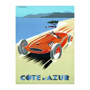 Wee Blue Coo LTD Travel Tourism Cote D'azur Fast Car Speed Convertible France Sea Canvas Print