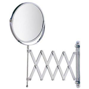 WENKO Kosmetik-Wandspiegel Teleskop Exclusiv – Teleskop-Wandspiegel mit 3fach-Vergrößerung, Spiegelfläche ø 16 cm 300…