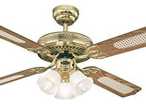 Westinghouse Lighting Deckenventilator Monarch Trio, für den Innengebrauch, Leuchtenset mit Milchglas, 7817140…