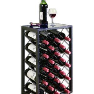 Mango Steam 32 Flaschen Weinregal mit Glasplatte, Zinn / (MEHRWEG)