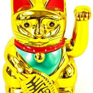 Winkekatze MANEKI NEKO 6″ / 16cm gold