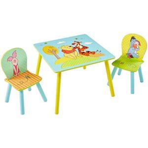 Winnie Puuh – Set aus Tisch und 2 Stühlen für Kinder