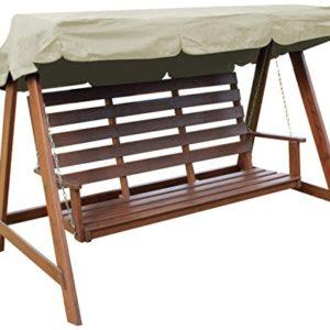 Woodside – Dachbezug für 2- & 3-Sitzer-Gartenschaukel – ideal als Ersatzdach – cremefarben
