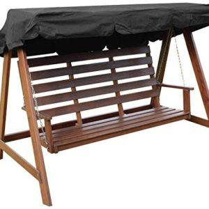 Woodside – Dachbezug für 2- & 3-Sitzer-Gartenschaukel – ideal als Ersatzdach – schwarz