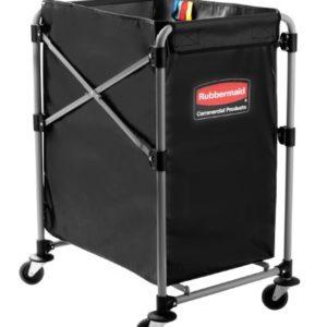 Wäschewagen-Rahmen in X-Form von Rubbermaid, zusammenklappbar, 150l, Grau